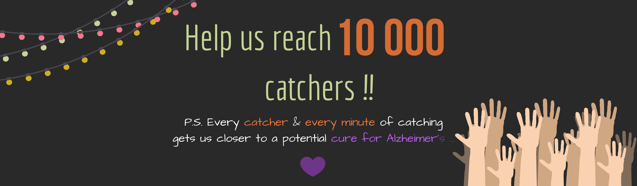 Our crowd is growing - can we reach 10 thousand catchers by New Years?!