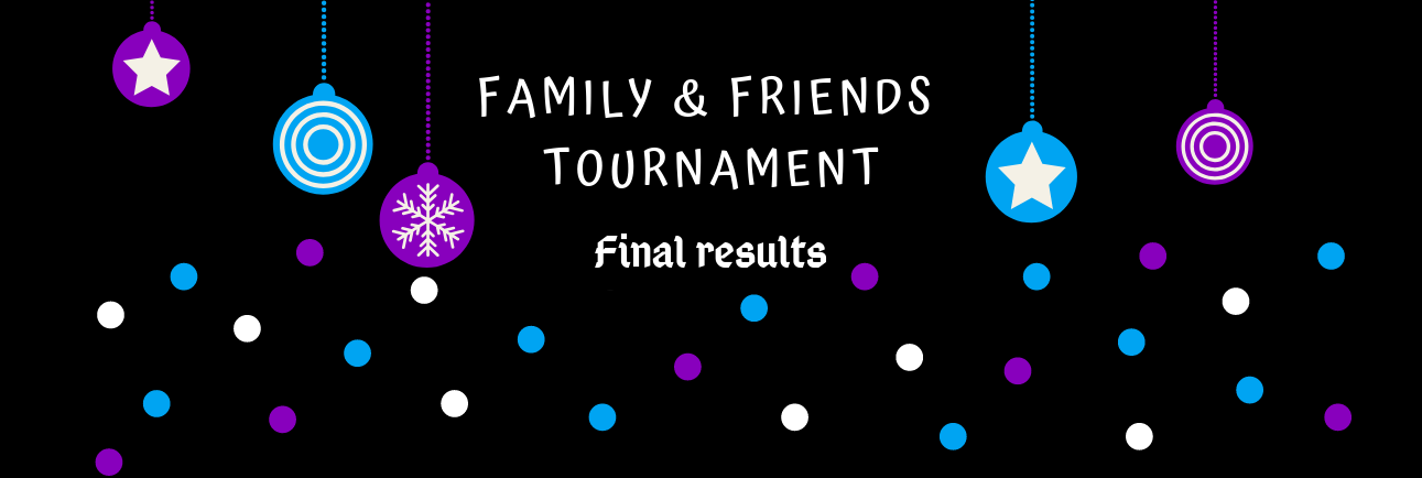 Family & Friends Tournament -- final results ! ❄♡❄