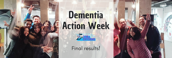 Final leaderboads of the Dementia Action Week Challenge