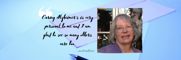 """Curing Alzheimer's is very personal to me"" - a letter from supercatcher & caregiver Sheryl 💜"